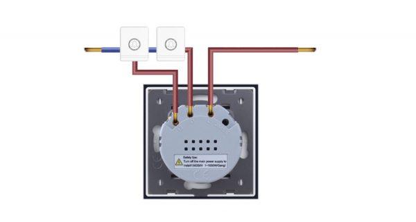 Kettes impulzuskapcsoló (csengő, relé) bekötés, kapcsolási rajz