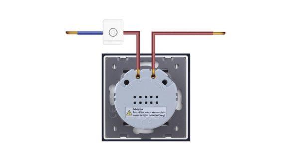 Egyes impulzuskapcsoló (csengő, relé) bekötés, kapcsolási rajz