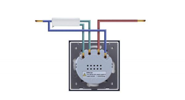Wifi redőnykapcsoló / Normál redőnymotor bekötés, kapcsolási rajz