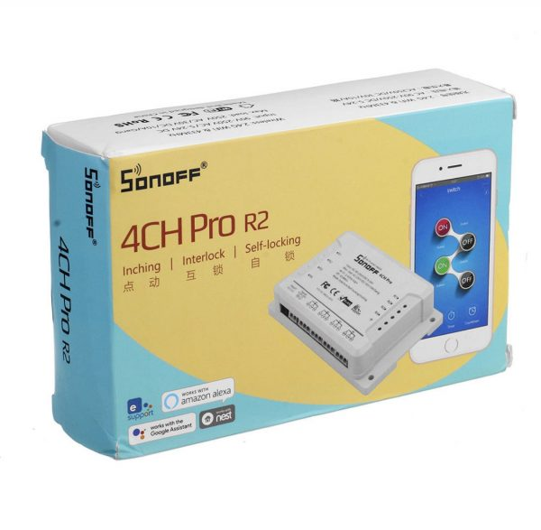 Sonoff 4ch pro r2 4 csatornás wifi kapcsoló, relé