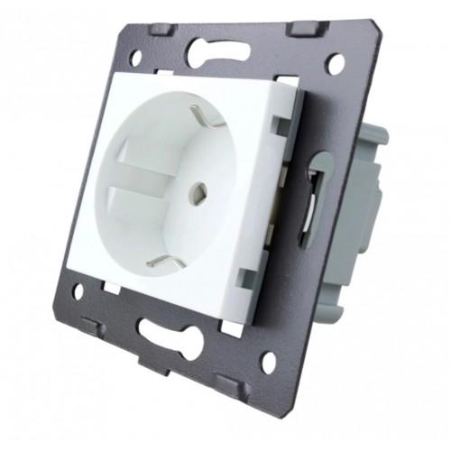Egyes fehér konnektor/dugalj